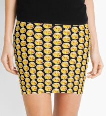 Emoji Wink Kiss Black Background Mini Skirt
