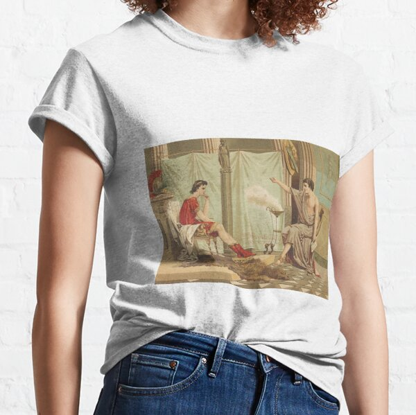 Aristotle [Aristoteles] Teaching Alexander [Alejandro] the great  Classic T-Shirt