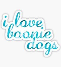 I Love Boonie Dogs Watercolor Sticker