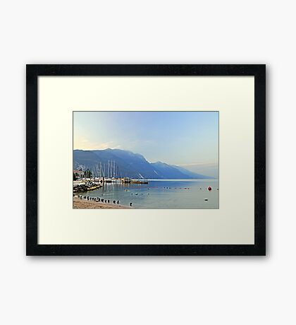 Lake Garda, early morning Framed Print
