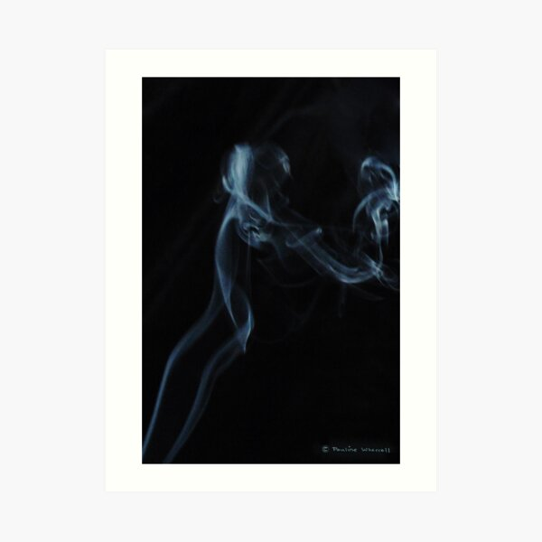 Mother and child -- smoke photography Art Print
