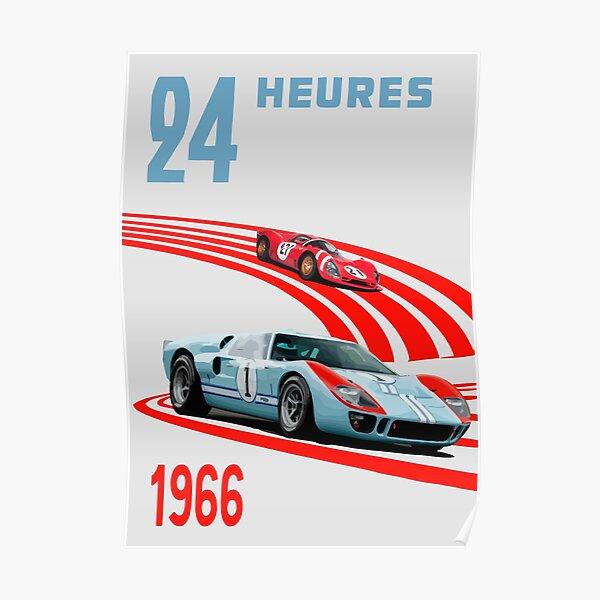 Ford v Ferrari 24h '66 Poster