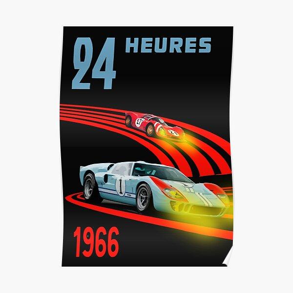 24 Hours 1966 Ford v Ferrari Poster