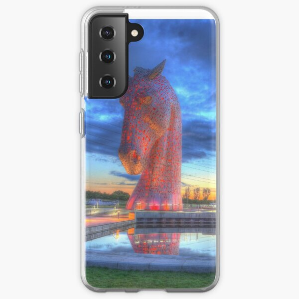 the Kelpies at night , the Helix , Falkirk  Samsung Galaxy Soft Case