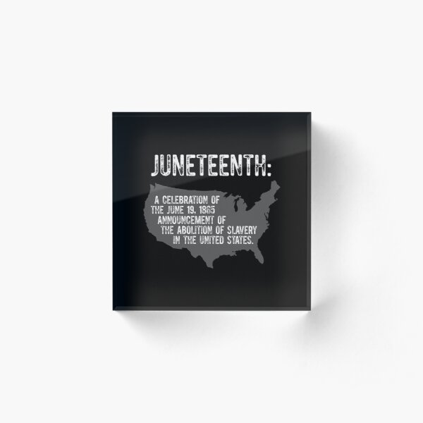 Juneteenth Map Meaning Black African American Flag Pride design Acrylic Block