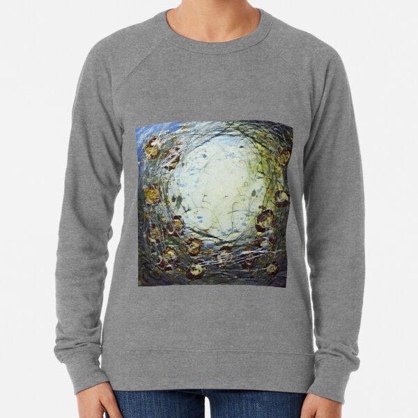 Poppy Circle 11 designed and created by (c) Janet Watson Art Lightweight Sweatshirt