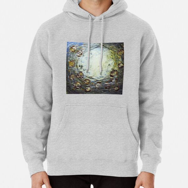 Poppy Circle 11 designed and created by (c) Janet Watson Art Pullover Hoodie