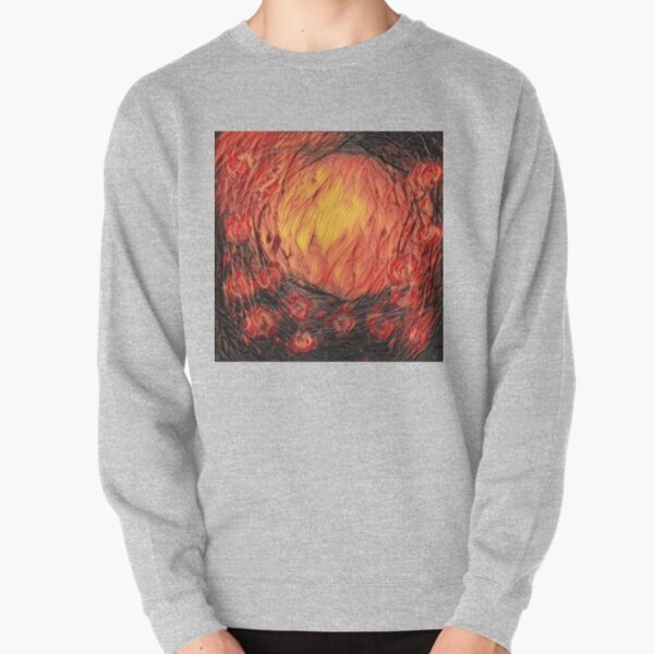 Poppy Circle 12 designed and created by (c) Janet Watson Art Pullover Sweatshirt