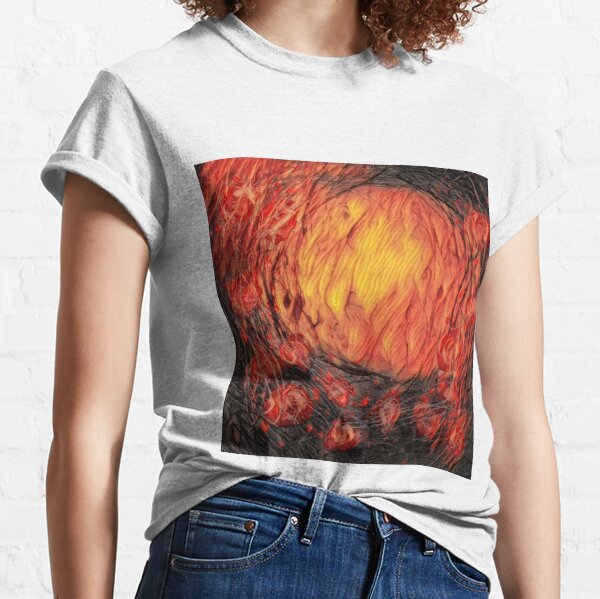 Poppy Circle 12 designed and created by (c) Janet Watson Art Classic T-Shirt