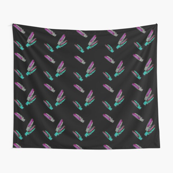 Pop art style jay feathers Tapestry