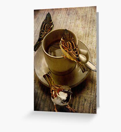 Cold Coffee Greeting Card