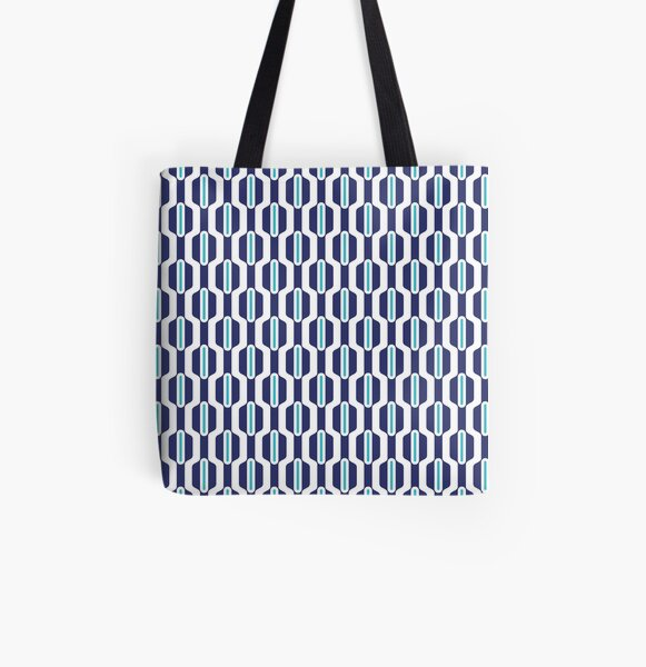 Abstract blue All Over Print Tote Bag
