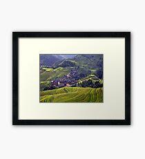 A Yao Village in Longsheng, China Framed Print