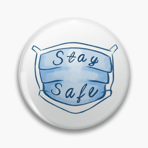 Stay Safe Mask Pin