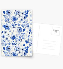 Blue China - Watercolor Floral Postcards