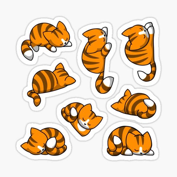 Sticker Set Katzen - Orange Tabby Sticker