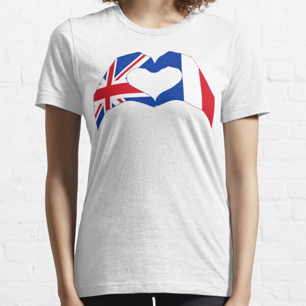 We Heart UK & France Patriot Flag Series Essential T-Shirt