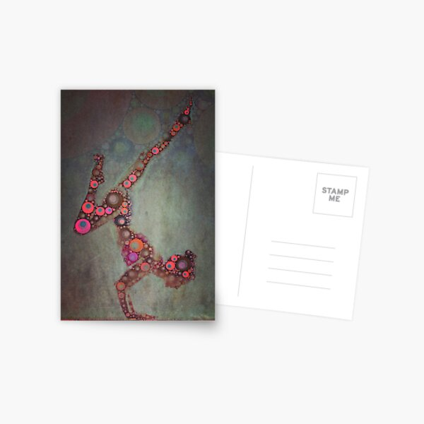 Vrschikasana - Yoga Art 2 Postcard