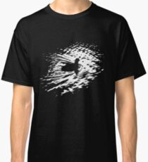 Coot, silhouette as swimming on a pond Classic T-Shirt