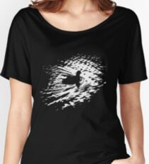Coot, silhouette as swimming on a pond Women's Relaxed Fit T-Shirt