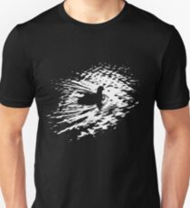Coot, silhouette as swimming on a pond Unisex T-Shirt