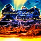 Biblical Electrified Cumulus Clouds Skyscape - Psalm 19 1 by Shelley Neff