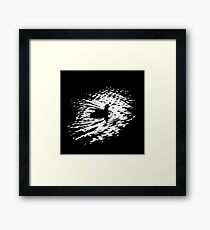Coot, silhouette as swimming on a pond Framed Print
