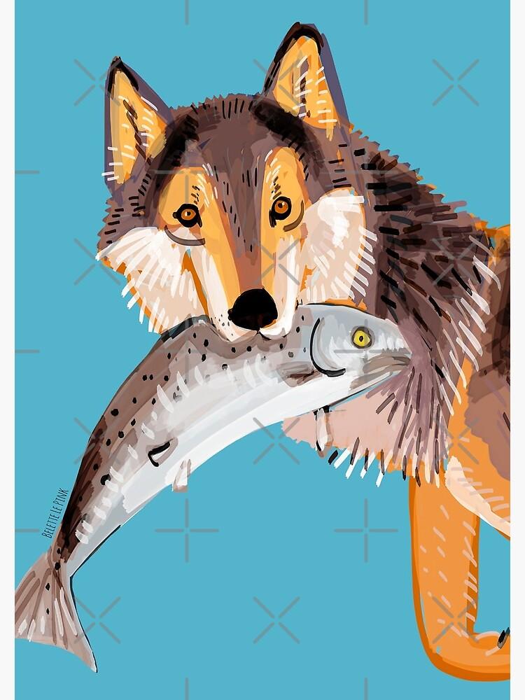 Totem Coastal wolf (Vancouver Wolf) de belettelepink