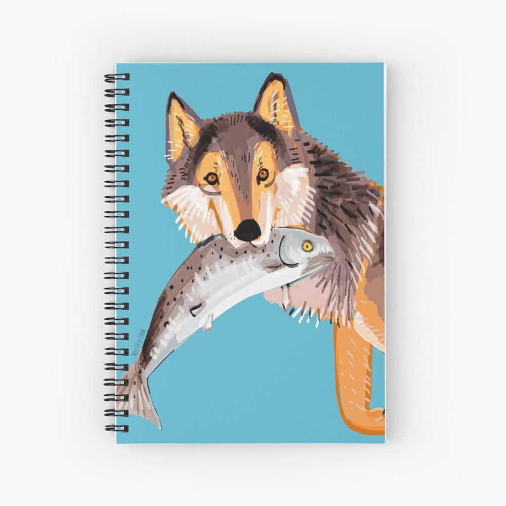 Totem Coastal wolf (Vancouver Wolf) Cuaderno de espiral
