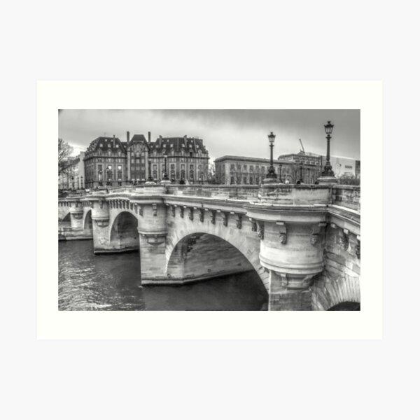 Pont Neuf in Black & White Art Print