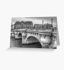 Pont Neuf in Black & White Greeting Card