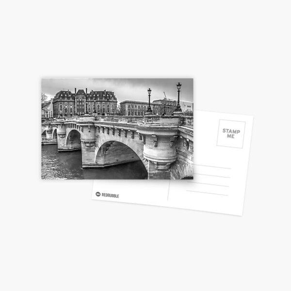 Pont Neuf in Black & White Postcard