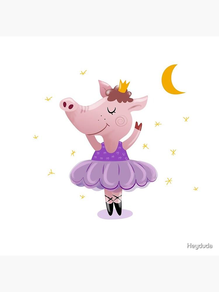 Ballet pig by Heyduda