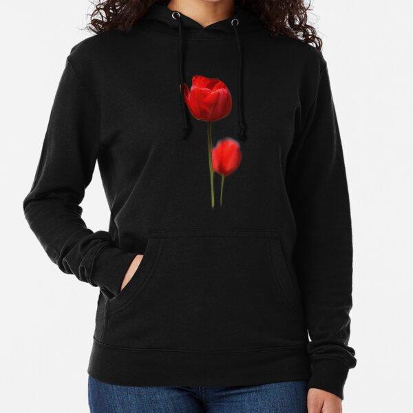 Red Tulips Lightweight Hoodie