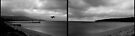 Storm warning (left and right panels) B&W version by Karl David Hill