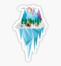 Geometrical Landscape Sticker