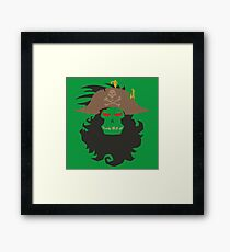 The Ghost Pirate LeChuck Minimalistic Design Framed Print