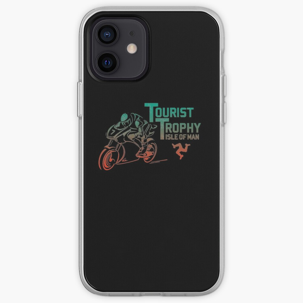 Isle Of Man TT Races Tourist Trophy Races Classic Vintage Neon Manx Isle Of Man iPhone Case & Cover