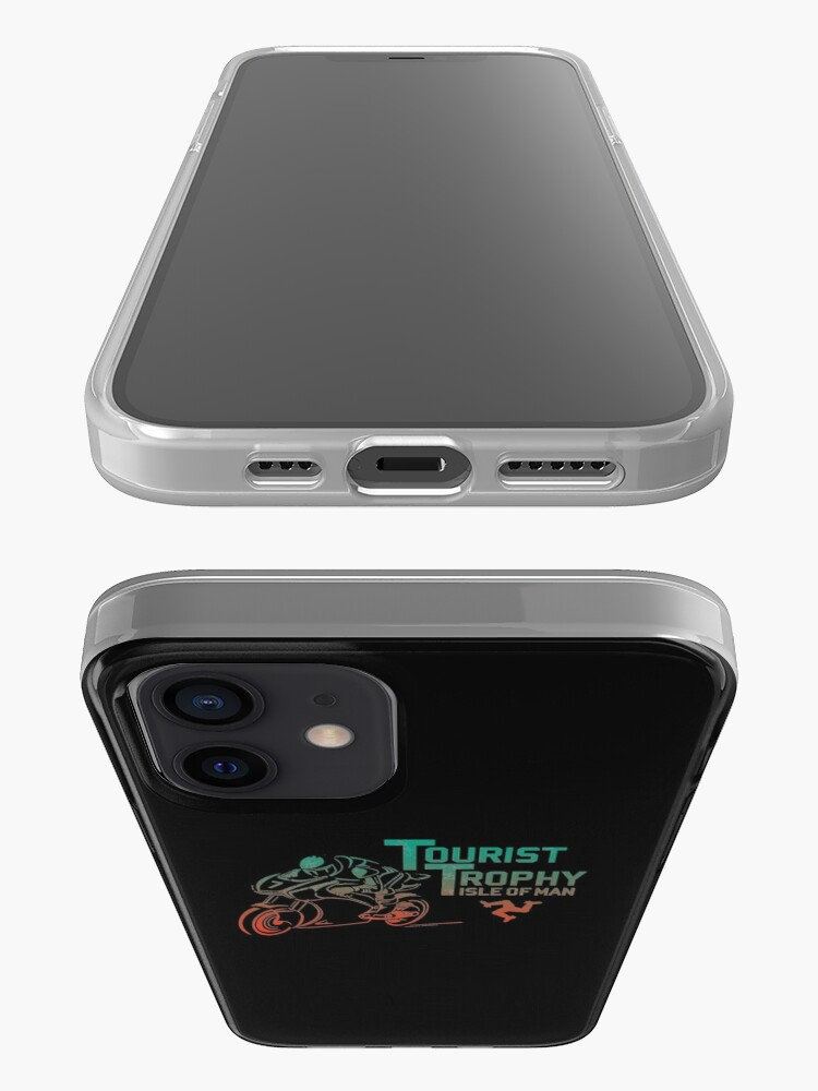 Alternate view of Isle Of Man TT Races Tourist Trophy Races Classic Vintage Neon Manx Isle Of Man iPhone Case & Cover