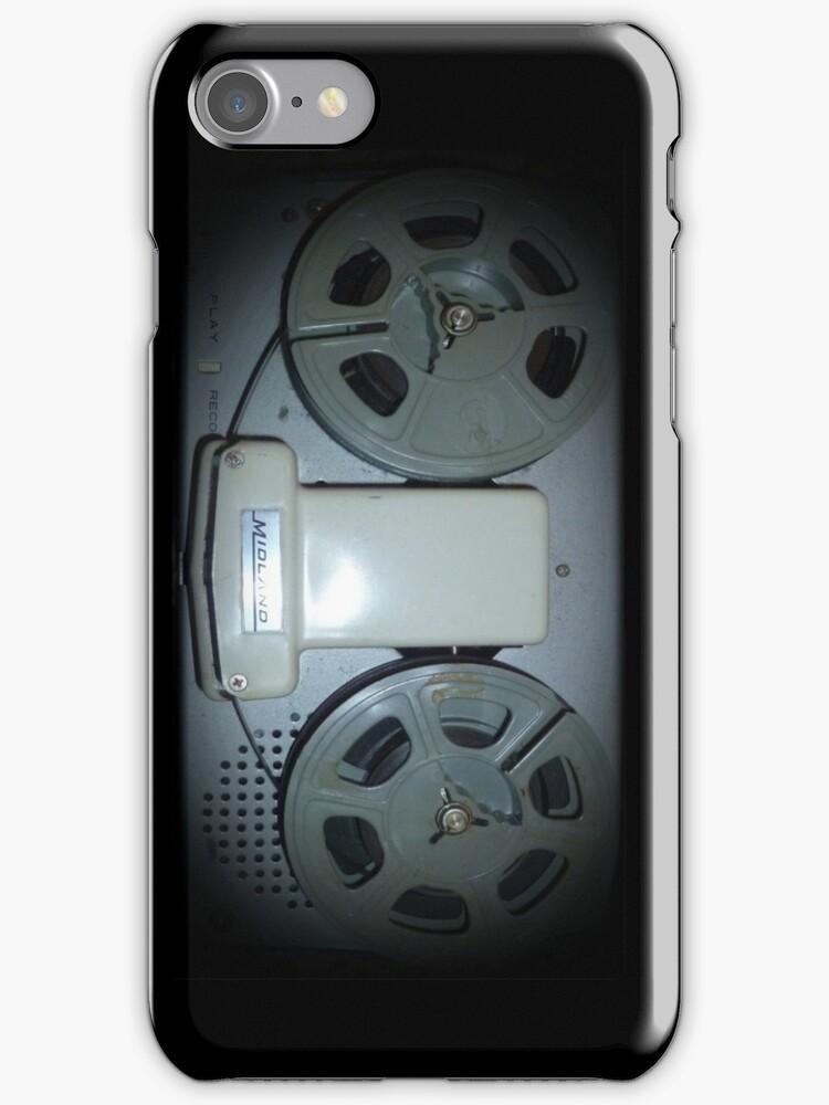 Reel2Reel phone case by Margaret Bryant