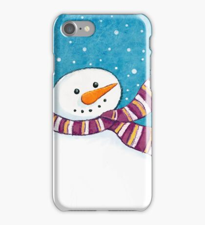 A Friendly Carrot-Nosed Snowman iPhone Case/Skin