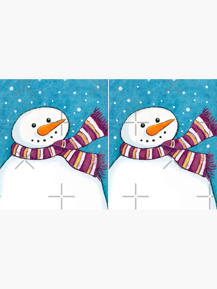 A Friendly Carrot-Nosed Snowman by LisaMarieArt