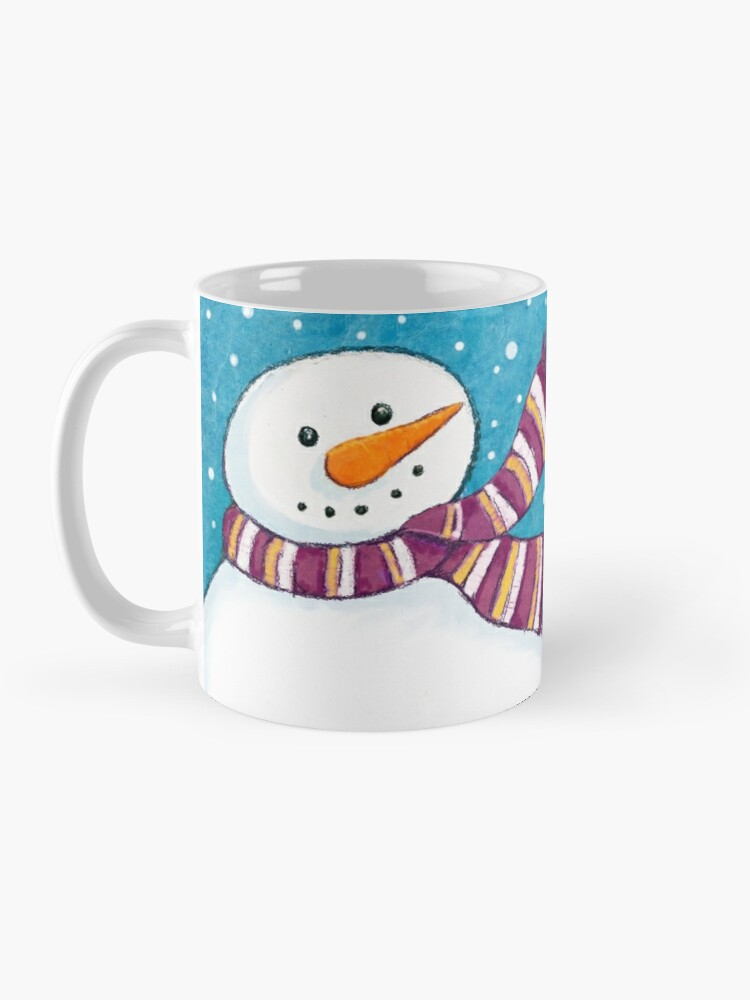 Alternate view of A Friendly Carrot-Nosed Snowman Mug