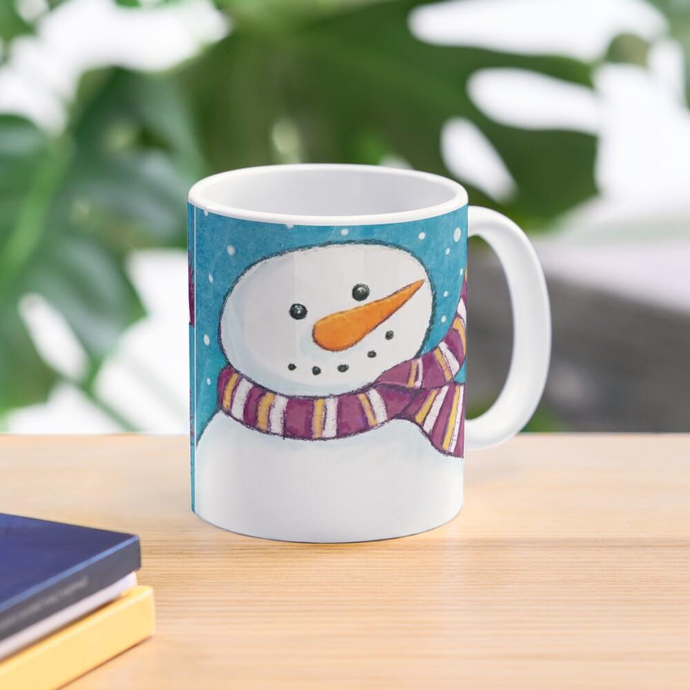 A Friendly Carrot-Nosed Snowman Mug