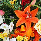 Orange Lily in a flower mix by Jane Neill-Hancock