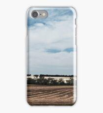 Lone tree in a wheat field iPhone Case/Skin
