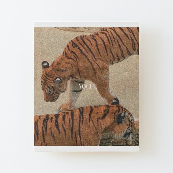 vogue tiger aesthetic Wood Mounted Print