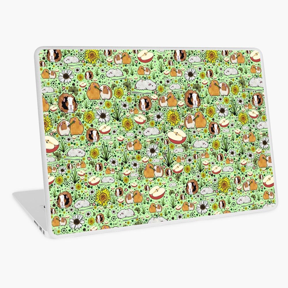 Guinea Pigs in Green  Laptop Skin