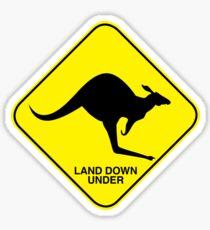 Land Down Under Sticker