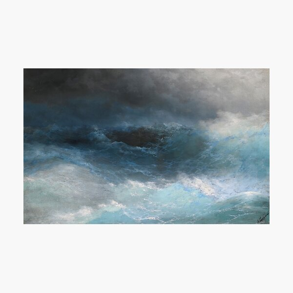 Stormy Sea by Ivan Aivazovsky Photographic Print